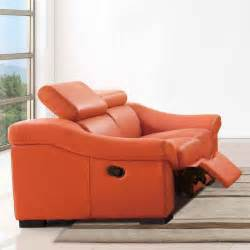 8021 reclining loveseat in orange modern loveseats