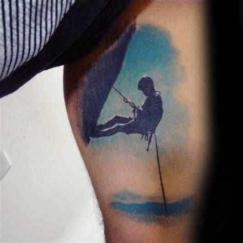 tattoo 3d rock 60 rock climbing tattoos for men climber design ideas
