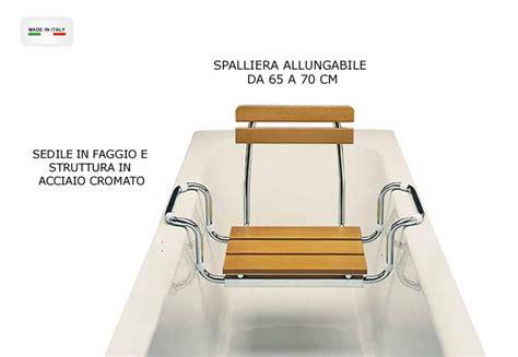 sedili per vasche da bagno cerchi sedile per vasca bagno in legno e acciaio con