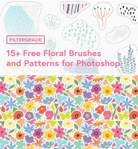patterns in photoshop elements 15 free floral brushes and patterns for photoshop