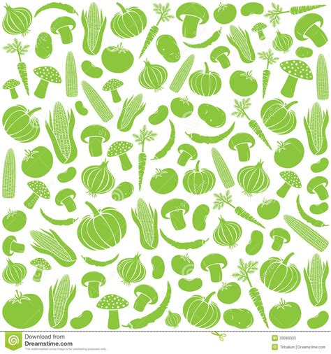 Seamless Pattern With Vegetables Stock Image   Image: 33093333