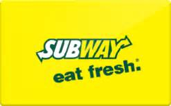 subway gift card discount 6 00 off - Discount Subway Gift Cards