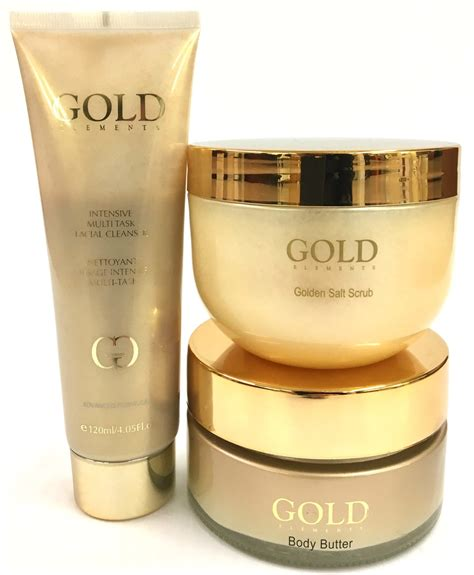 Scrub Gold 24k gold scrub kit gold elements
