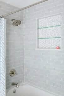 shower with gray subway tiles transitional bathroom tile glass travertine marble brick and more