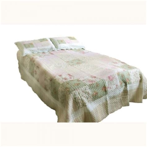 Cheap Quilted Throws by Wholesale Pink Green And Vintage Quilted Throw