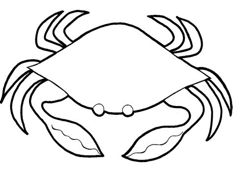 Easy Crab Coloring Page | crab coloring pages free printable coloring pages simple