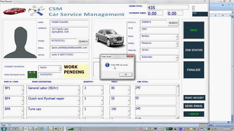 how to use microsoft excel to manage your life car service software for microsoft excel youtube