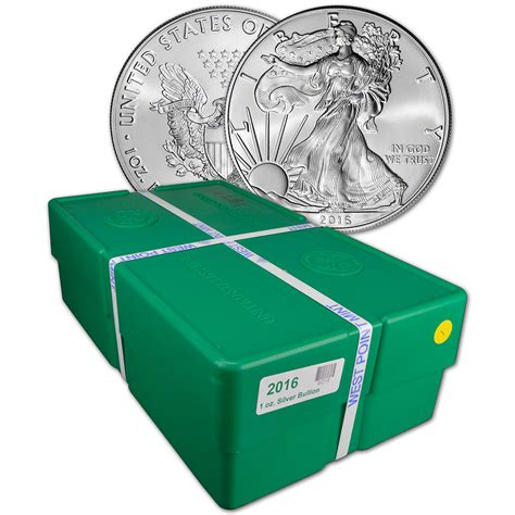 1 Oz Silver American Eagle Box 500 Coins - 2016 american silver eagle 1 oz 1 bu sealed 500