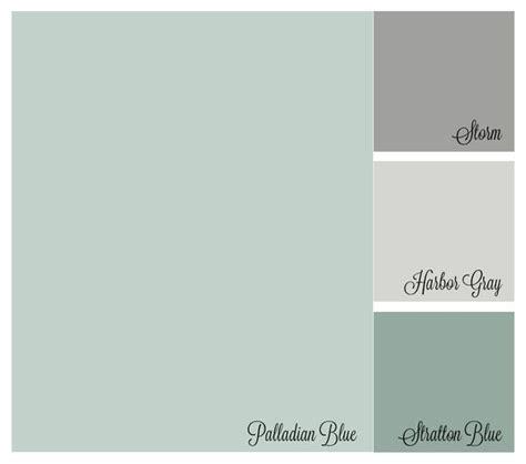 color palette benjamin palladian blue harboy gray stratton blue paint colors