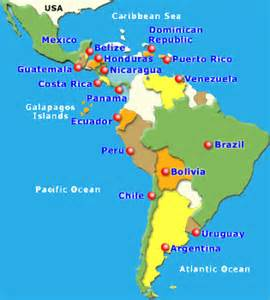 map of south america and central pilgrim tours