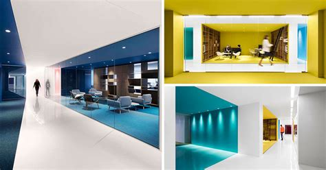 contemporist contemporary modern architecture furniture this office interior used color to create distinct spaces