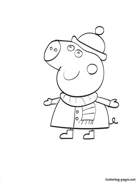 peppa pig thanksgiving coloring pages free coloring pages of peppa pig peppa