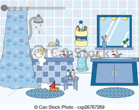 bathroom clipart pictures stock illustration of bathroom illustration of a