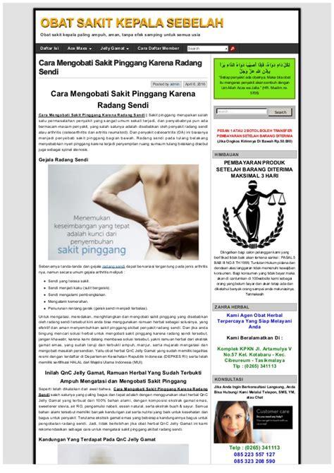 Obat Herbal Curma Hc cara mengobati sakit pinggang karena radang sendi obat
