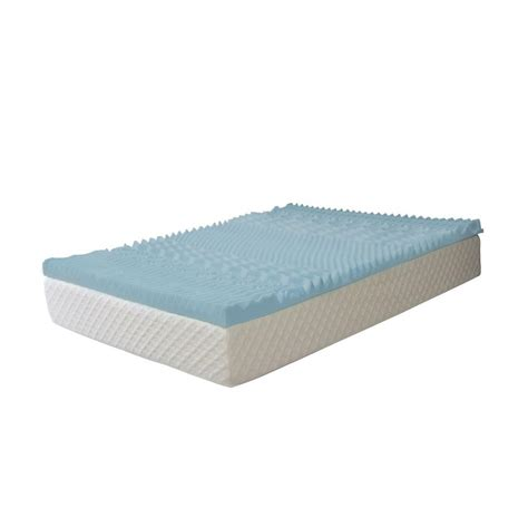 bed foam pad serenia sleep 3 in twin gel memory foam 7 zone mattress