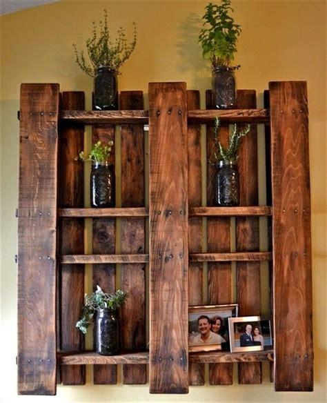 Wood Pallet Shelf by Ideas For Wooden Pallet Crafts 8 Pallet Furniture 101
