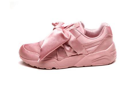 Pma Rihana Pink take your look at rihanna s fenty bow sneaker and slide hypebae