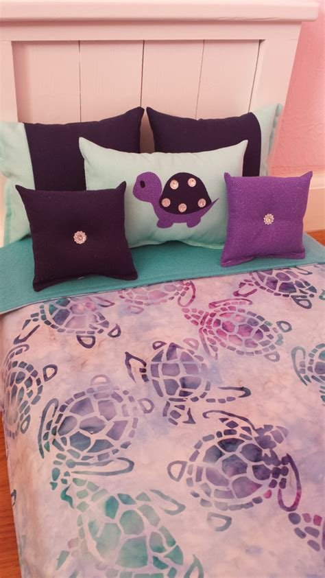 Handmade 6 Pc Bedding Set Sea Turtles Theme Inspired For Turtle Bedding Set