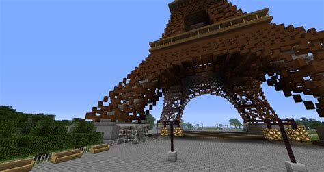 100 floors level 98 tower eiffel tower 210 blocks height minecraft project