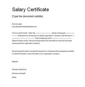 Certification Letter Template Word salary certificate template 25 free word excel pdf