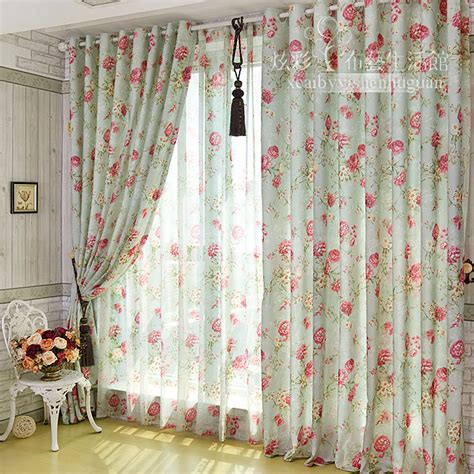 gauze fabric curtains korean romantic floral garden window gauze curtain fabric