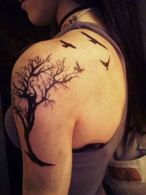 tattoo designs for lost loved ones back shoulder blade and up and shoulder tree and