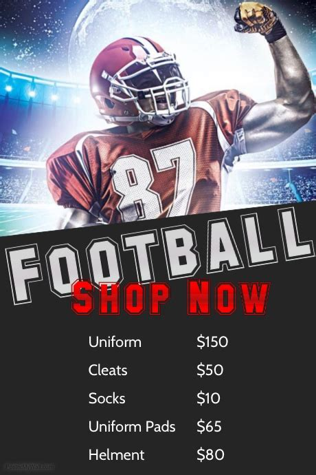 design flyer football football template postermywall