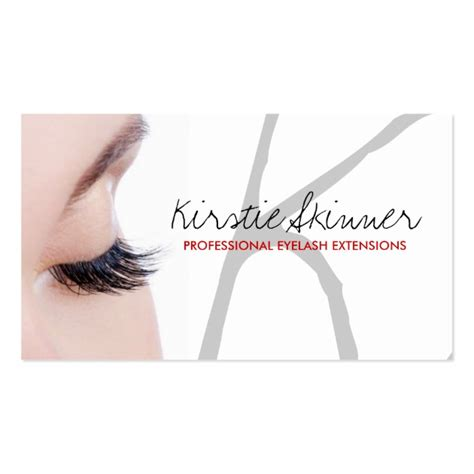 Professional Eyelash Extensions Business Cards Eyelash Business Cards Templates