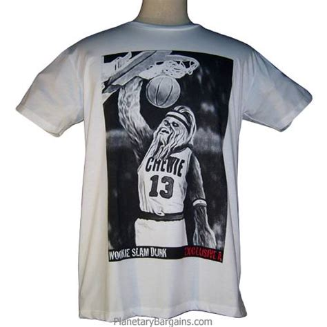 T Shirt Slam Dunk chewie slam dunk shirt wookie slam dunk shirt