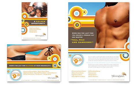 Tanning Salon Flyer Ad Template Design Tanning Salon Website Templates