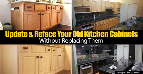 how to update old kitchen cabinets update reface your old kitchen cabinets without