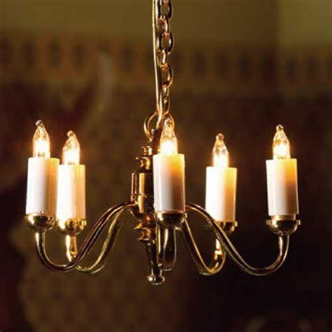 the dolls house emporium five arm candle ceiling light