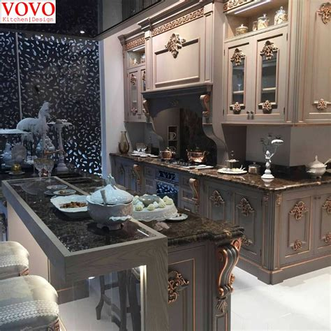 solid wood kitchen furniture solid wood kitchen furniture with gold painted design on