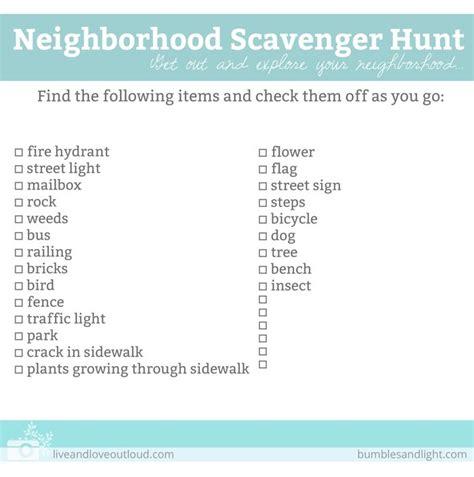 idea hunt 1000 ideas about neighborhood scavenger hunts on