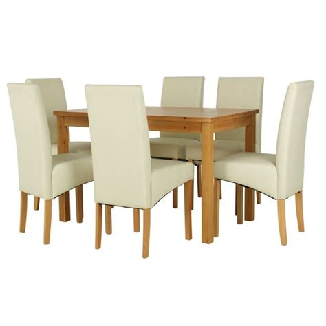 Dining Room Sets Argos Buy Home Lincoln Solid Wood Table 6 Skirted Chairs