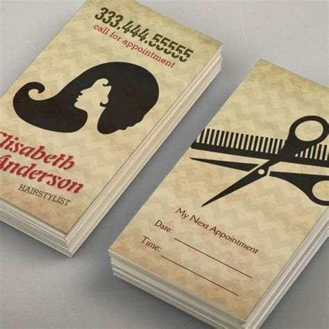 salon business card templates hairstylist salon appointment reminder card