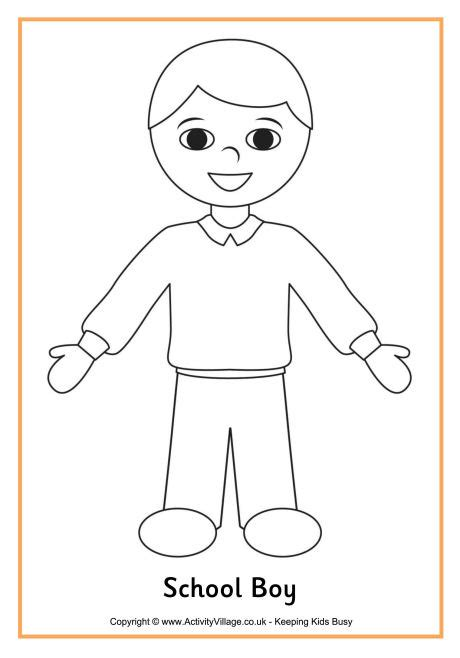 coloring pages school uniform school boy colouring page f 228 rgl 228 ggnings bilder