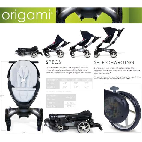 4 origami stroller car seat travel system