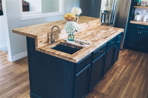 Painting Butcher Block Countertops - jess kirby kitchen renovation lowes butcher block