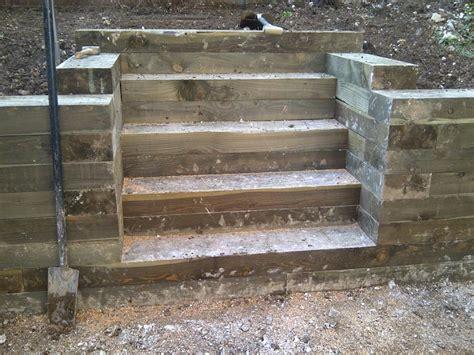 Sleeper Steps by Brick Steps Railway Sleeper Steps Garden Steps Landscape