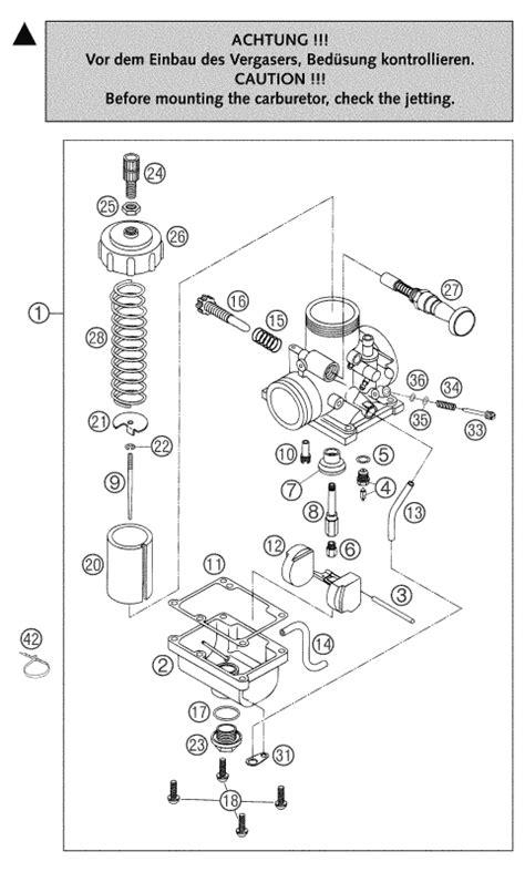 Ktm 65 Jetting Chart Ktm Fiche Finder Carburetor Vm24 505 65 Sx Spare Parts For