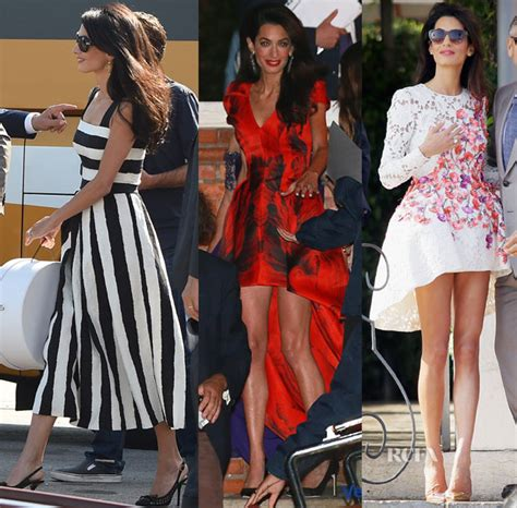 Who Wore Dolce Gabbana Better George Or Rowland by Amal Alamuddin In Dolce Gabbana Mcqueen