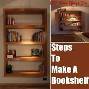 How To Make Bookshelves by How To Make A Bookshelf Diy Home Things