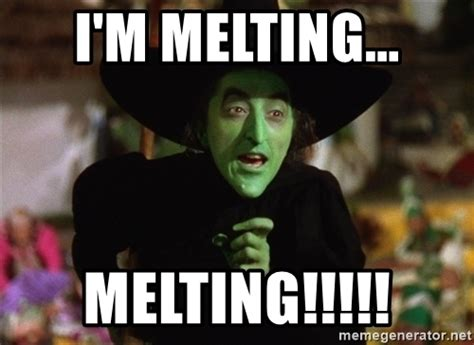 Witch Meme - i m melting melting wicked witch wizard of oz