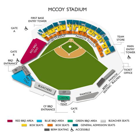 mccoy stadium seating chart mccoy stadium seating chart seats