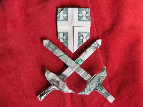 Dollar Bill Origami Sword - 85 best origami money images on money