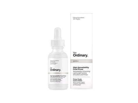Ord006 The Ordinary High Spreadibility Fluid Primer 30ml the ordinary high spreadability fluid primer 30ml ingredients and reviews