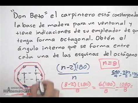 angulo interior de un poligono regular 193 ngulo interior de un pol 237 gono regular prob 1