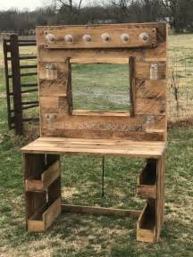 Home Made Room Decorations by Rustic Lit Pallet Makeup Vanity Pallet Ideas 1001 Pallets