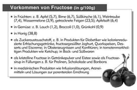 fructoseintoleranz tabelle fruktose fair beraten e v